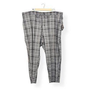 Ava & Viv Houndstooth Plaid Elastic Cropped Pants